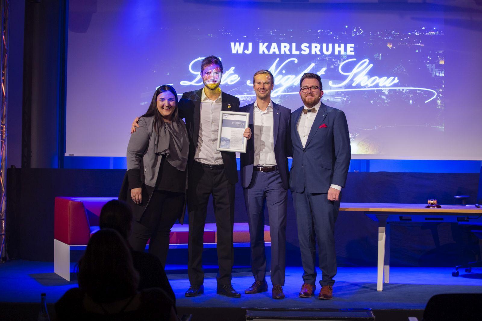 JHV 2019 Jahreshauptversammlung in der IHK mit Daniel Stöck Paul Schmidt und Manuela Hrkac Rising Star Award