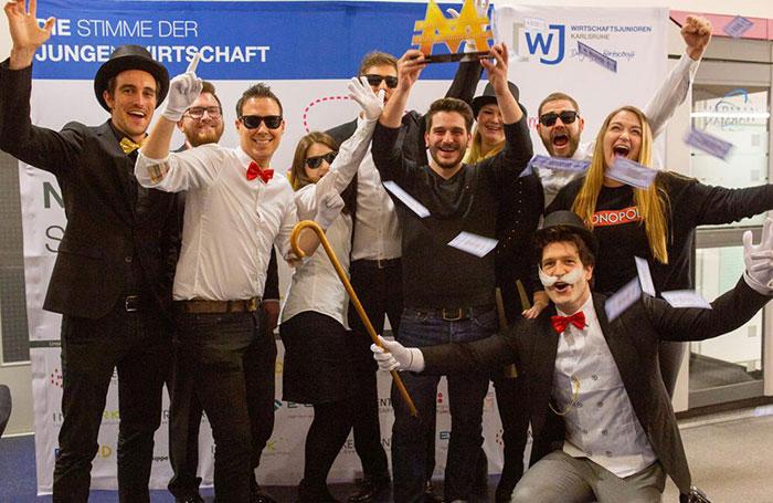 die erste Monopoly Stadmeisterschaft in karlsruhe ausgerichtet von den Wirtschaftsjunioren Karlsruhe