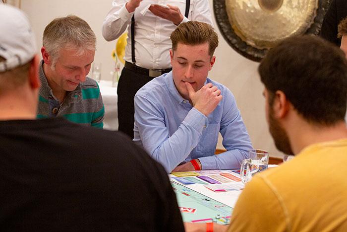Monopoly Stadtmeisterschaft 2019 der Wirtschaftsjunioren Karlsruhe mit spielenden Gästen