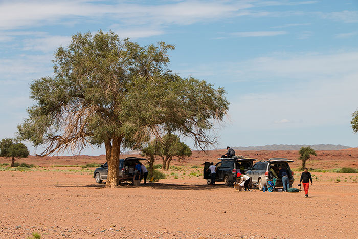 Wirtschaftsjunioren Karlsruhe machen Rast bei der Jeep Tour durch die Mongolei beim Mongolei Twinning