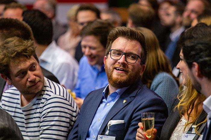 Ex Vorsitzender der WJ Karlsruhe Daniel Stöck beim be efficient award 2018