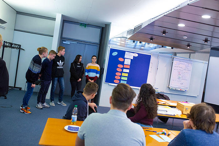 Teilnehmer beim Wirtschafts Wissen im Wettbewerb WWW des AKBW Bildung und Wirtschaft der WJ Karlsruhe Wirtschaftsjunioren Karlsruhe