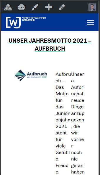 Jahresmotto 2021 Aufbruch